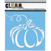 "Pumpkin - Clear Scraps Stencils 6""X6"""