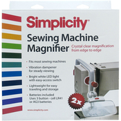 White & Red - Sewing Machine Magnifier