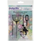 Industrial Lamps - Large - Indigoblu Cling Mounted Stamp