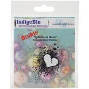 Splattered Heart - Dinkie - Indigoblu Cling Mounted Stamp