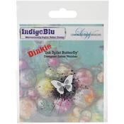 Ink Splat Butterfly - Dinkie - Indigoblu Cling Mounted Stamp