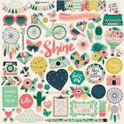 Just Be You Element Sticker Sheet - Echo Park