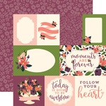 Lily Meadow Journaling Card Paper - Flora No 1 - Carta Bella