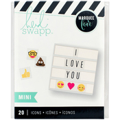 Mini Emoji Icons - Heidi Swapp Lightbox Inserts