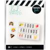 Emojis 2 - Heidi Swapp Lightbox Inserts 20/Pkg