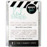 """Silver Glitter - Heidi Swapp Lightbox Tapes .4""""X9' & 2""""X9'"""