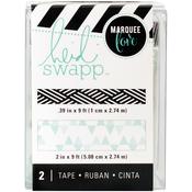 """Teal Print - Heidi Swapp Lightbox Tapes .4""""X9' & 2""""X9'"""
