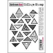 """Arty Triangles - Darkroom Door Cling Stamp 4.5""""X3"""""""