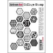"""Arty Hexagons - Darkroom Door Cling Stamp 4.5""""X3"""""""