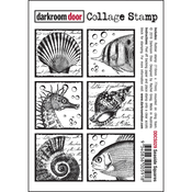 """Seaside Squares - Darkroom Door Cling Stamp 4.5""""X3"""""""