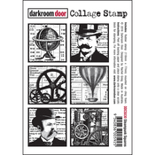 "Steampunk Squares - Darkroom Door Cling Stamp 4.5""X3"""