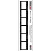 """Filmstrip - Darkroom Door Border Cling Stamp 11.8""""X2.2"""""""
