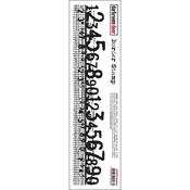 """Numbers - Darkroom Door Border Cling Stamp 11.8""""X2.2"""""""