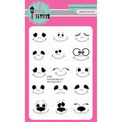 """Mini Faces Set 2 - Pink & Main Clear Stamps 3""""X4"""""""