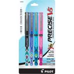 Capped, Deco Assorted Ink Colors - Pilot Precise V5 Premium Roller Pen X-Fine 4/Pkg