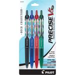 Retractable, Deco Assorted Ink Colors - Pilot Precise V5 Premium Roller Pen X-Fine 4/Pkg