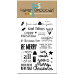 """Be Merry - Paper Smooches Clear Stamps 4""""X6"""""""