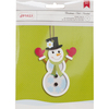 Snowman Shaker Tag - American Crafts Christmas Paper Craft Kit