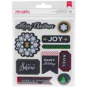 Word Labels - American Crafts Christmas Stickers