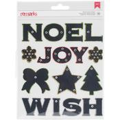 Marquee - American Crafts Christmas Chipboard Stickers