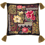 "15.75""X15.75"" 10 Count - Flowers Arrangement Cushion Counted Cross Stitch Kit"