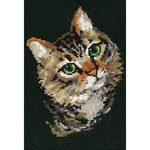 """8.25""""X11.75"""" 10 Count - Grey Cat Counted Cross Stitch Kit"""