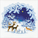 """17.75""""X17.75"""" 15 Count - Christmas Counted Cross Stitch Kit"""