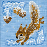 "6""X6"" 15 Count - Small Squirrel Counted Cross Stitch Kit"