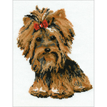 "7.75""X10.25"" 15 Count - Yorkshire Terrier Counted Cross Stitch Kit"
