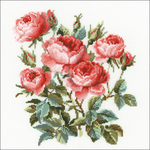 Garden Roses Counted Cross Stitch Kit