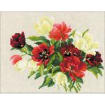 "13.25""X9.5"" - Tulips Counted Cross Stitch Kit"