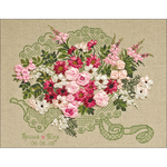 "17.75""X13.75"" 14 Count - Wedding Bouquet Counted Cross Stitch Kit"