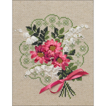 """7""""X9"""" 14 Count - Bouquet Of Love Counted Cross Stitch Kit"""