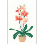 "8.25""X11.75"" 14 Count - Yellow Orchid Counted Cross Stitch Kit"