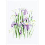 """8.25""""X11.75"""" 14 Count - Srping Irises Counted Cross Stitch Kit"""