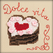 "4""X4"" 14 Count - Heart Cake Counted Cross Stitch Kit"