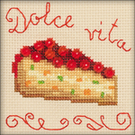 "4""X4"" 14 Count - Berry Cake Counted Cross Stitch Kit"