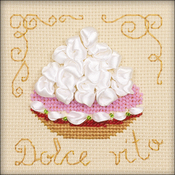 "4""X4"" 14 Count - Cake Basket Counted Cross Stitch Kit"