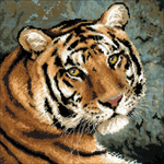 """15.75""""X15.75"""" 10 Count - Siberian Tiger Counted Cross Stitch Kit"""