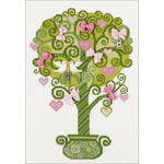 """8.25""""X11.75"""" 14 Count - Tree Of Happiness Counted Cross Stitch Kit"""