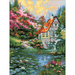 """11.75""""X15.75"""" 14 Count - Water Mill Counted Cross Stitch Kit"""