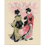 """9.5""""X11.75"""" 14 Count - Cherry Blossom Counted Cross Stitch Kit"""