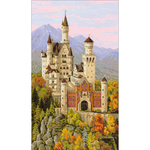 "13.75""X23.5"" 14 Count - Neuschwanstein Castle Counted Cross Stitch Kit"