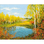 "11.75""X9.5"" 10 Count - Autumn Day Counted Cross Stitch Kit"