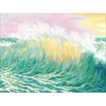 """15.75""""X11.75"""" 14 Count - Wave Counted Cross Stitch Kit"""