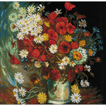 """11.75""""X11.75"""" 14 Count - Still Life With Meadow Flowers Counted Cross Stitch Kit"""