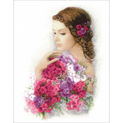 """13.75""""X17.75"""" 14 Count - Summer Delight Counted Cross Stitch Kit"""
