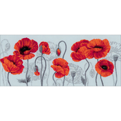 """27.5""""X11.75"""" 14 Count - Scarlet Poppies Counted Cross Stitch Kit"""