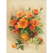 Tea Roses Counted Cross Stitch