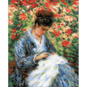 """9.5""""X11.75"""" 14 Count - Camille Monet Counted Cross Stitch Kit"""